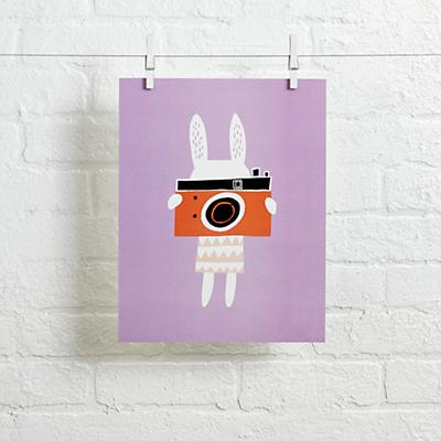 Rabbit Wall Art (Camera)
