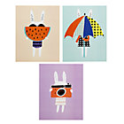 Set of 3 Rabbit Wall Art