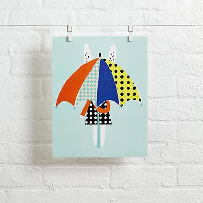 Rabbit Wall Art (Umbrella Rabbit)