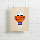 Watermelon Rabbit Wall Art.