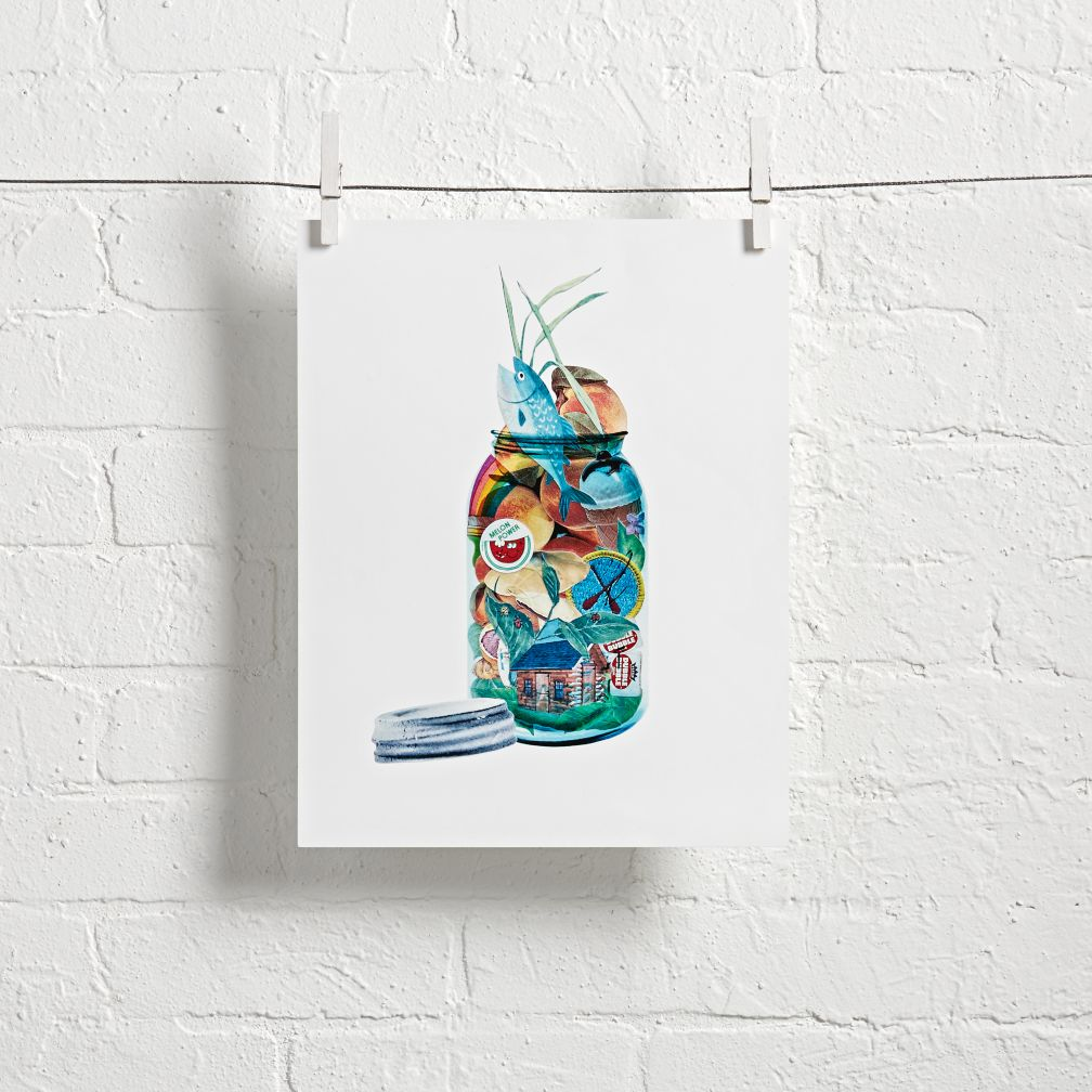 Summer Jar Wall Art (Blue)