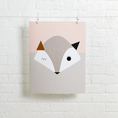 Alphonnsine Wall Art (Pink Fox)