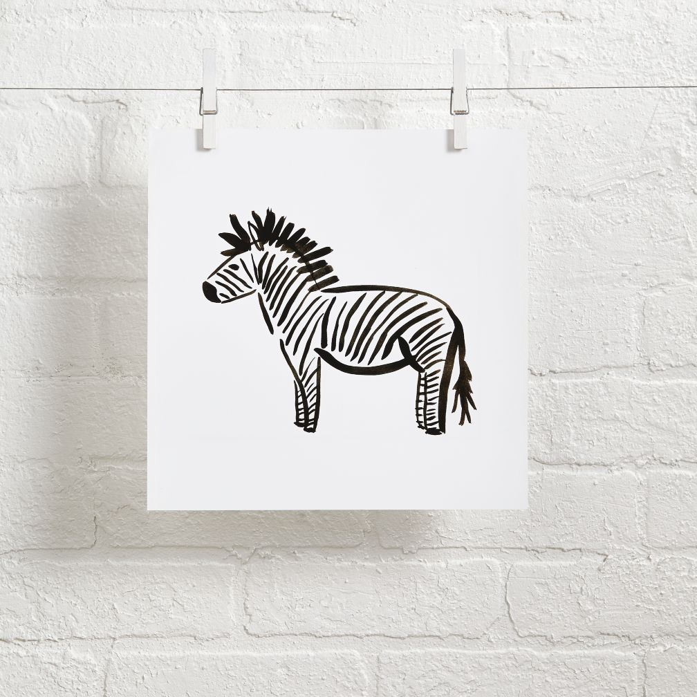 Linda and Harriett Wall Art (Zebra)