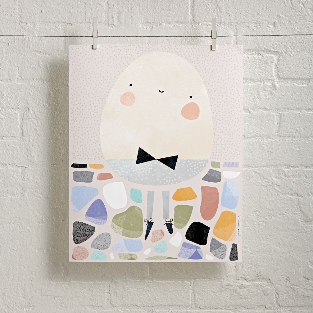 Unframed Humpty Dumpty Wall Art