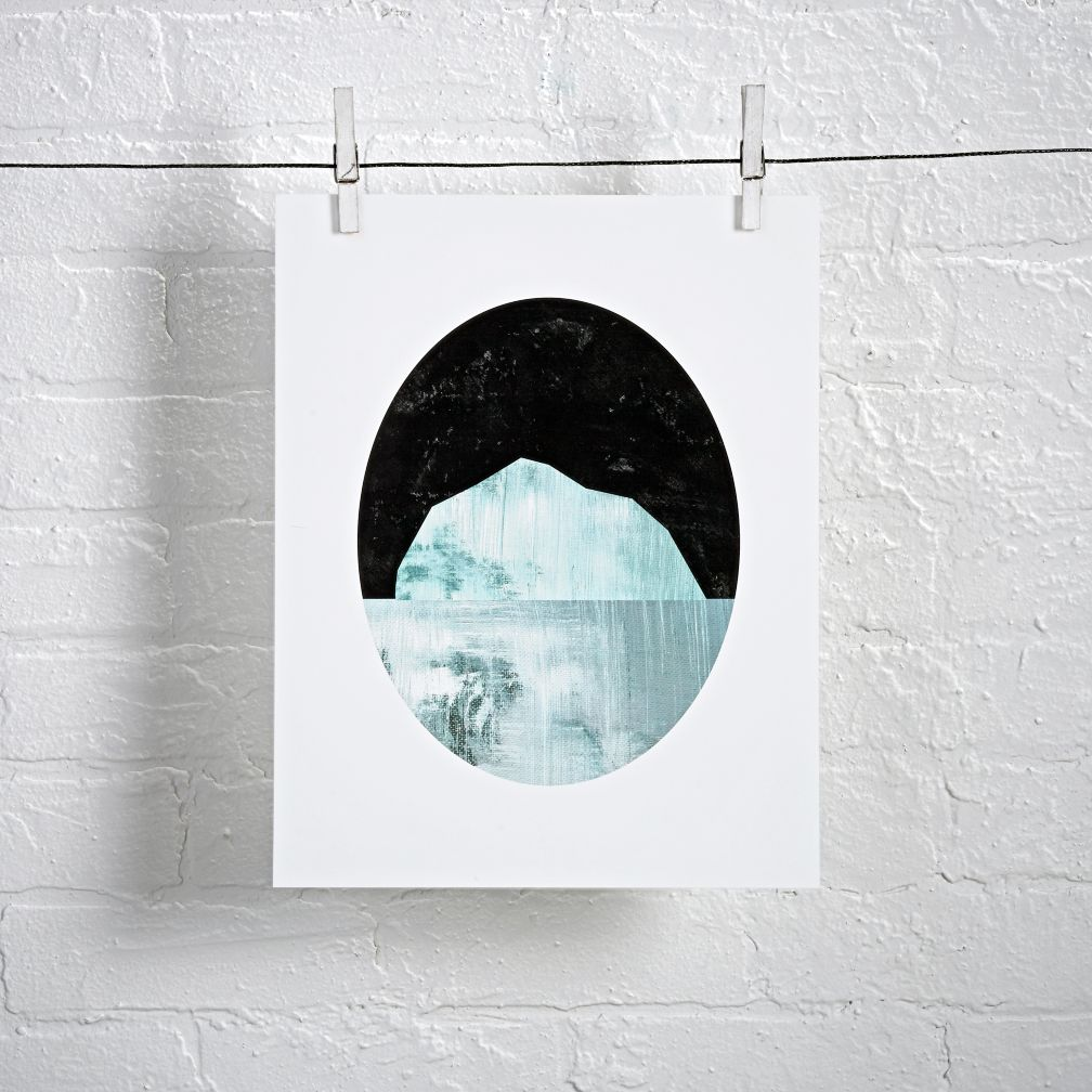 Ice Waters Unframed Wall Art