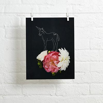 Unicorn Flowers Wall Art