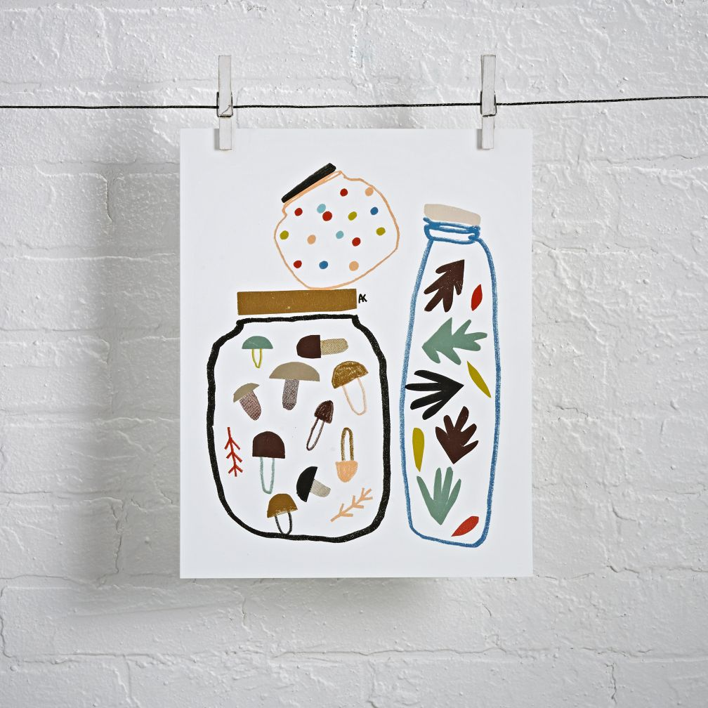 Jars Unframed Wall Art