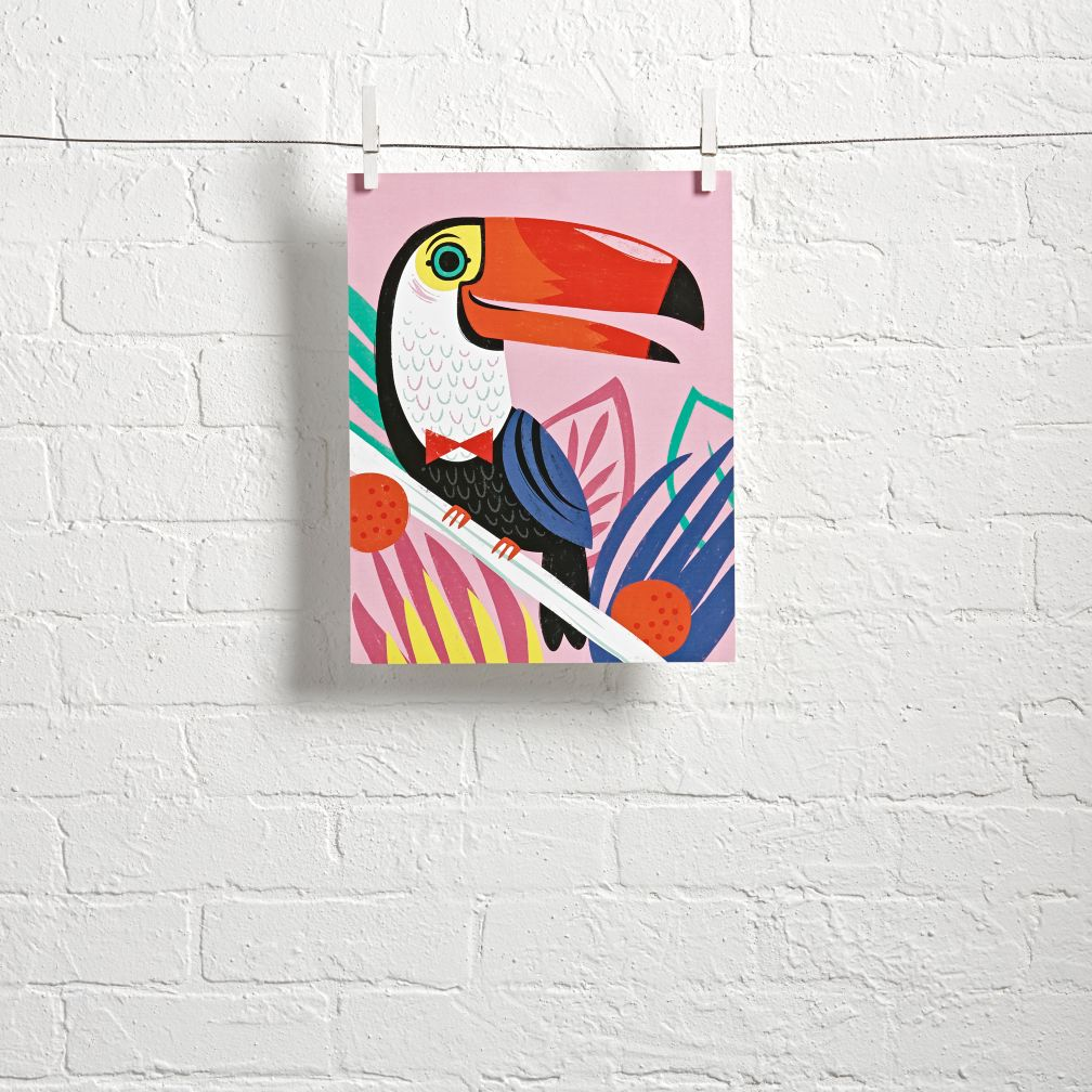 Jungle Toucan Wall Art