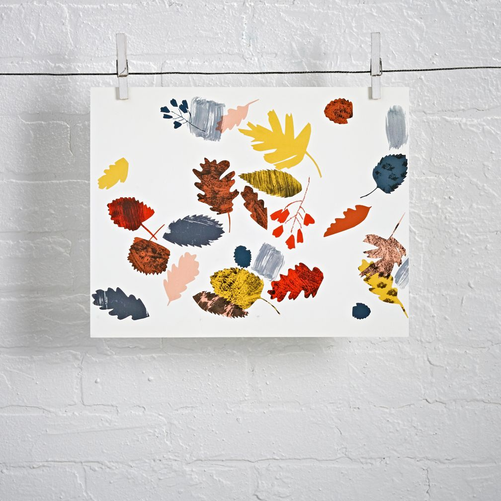 Unframed Leaves Wall Art