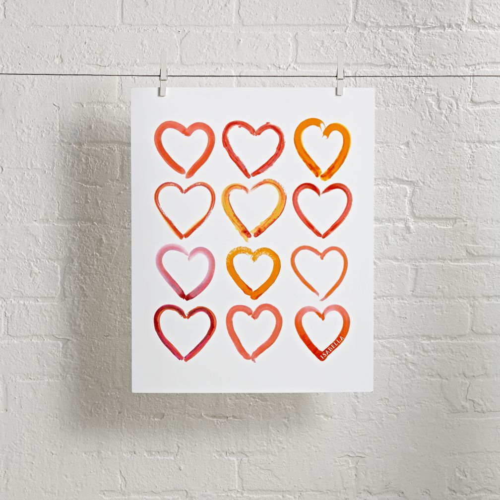 Unframed Hearts Personalized Wall Art