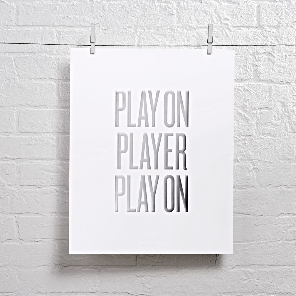Play On Player Foil Stamped Wall Art