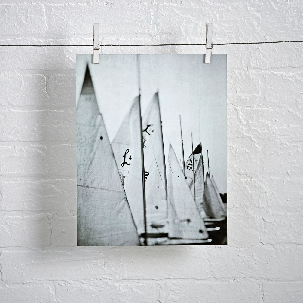 Sailboats Unframed Wall Art