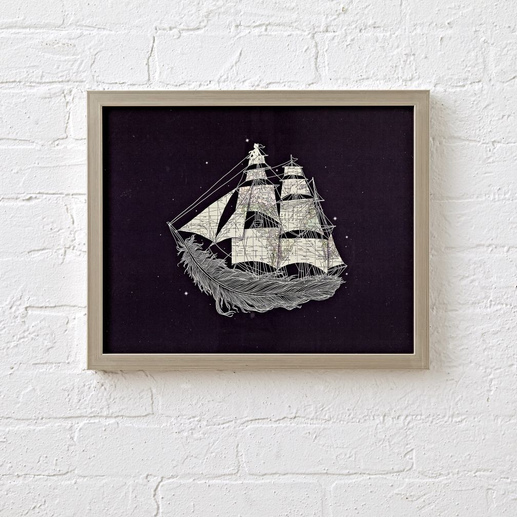 Wherever Wind Blows Framed Wall Art