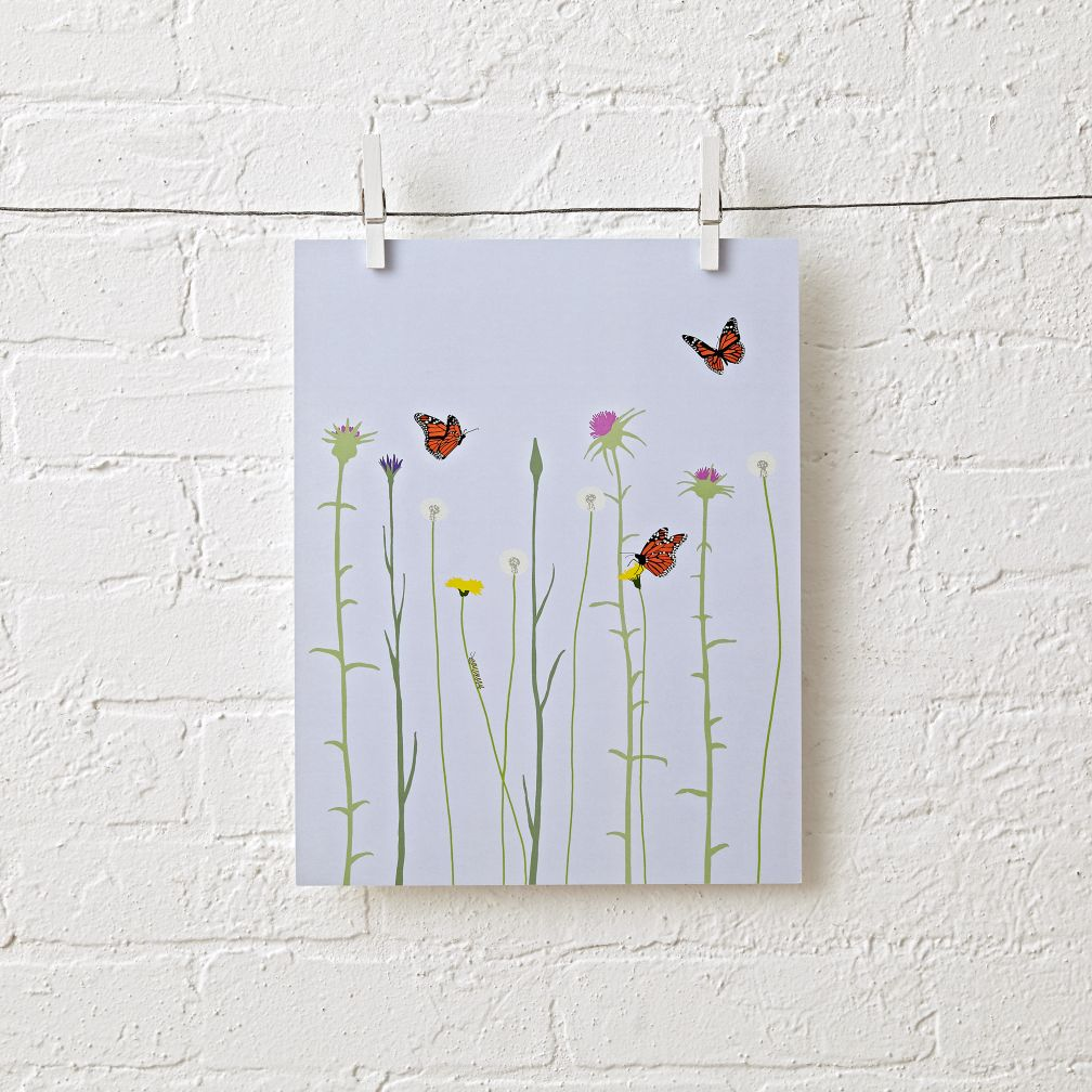 Wild Flowers Unframed Wall Art