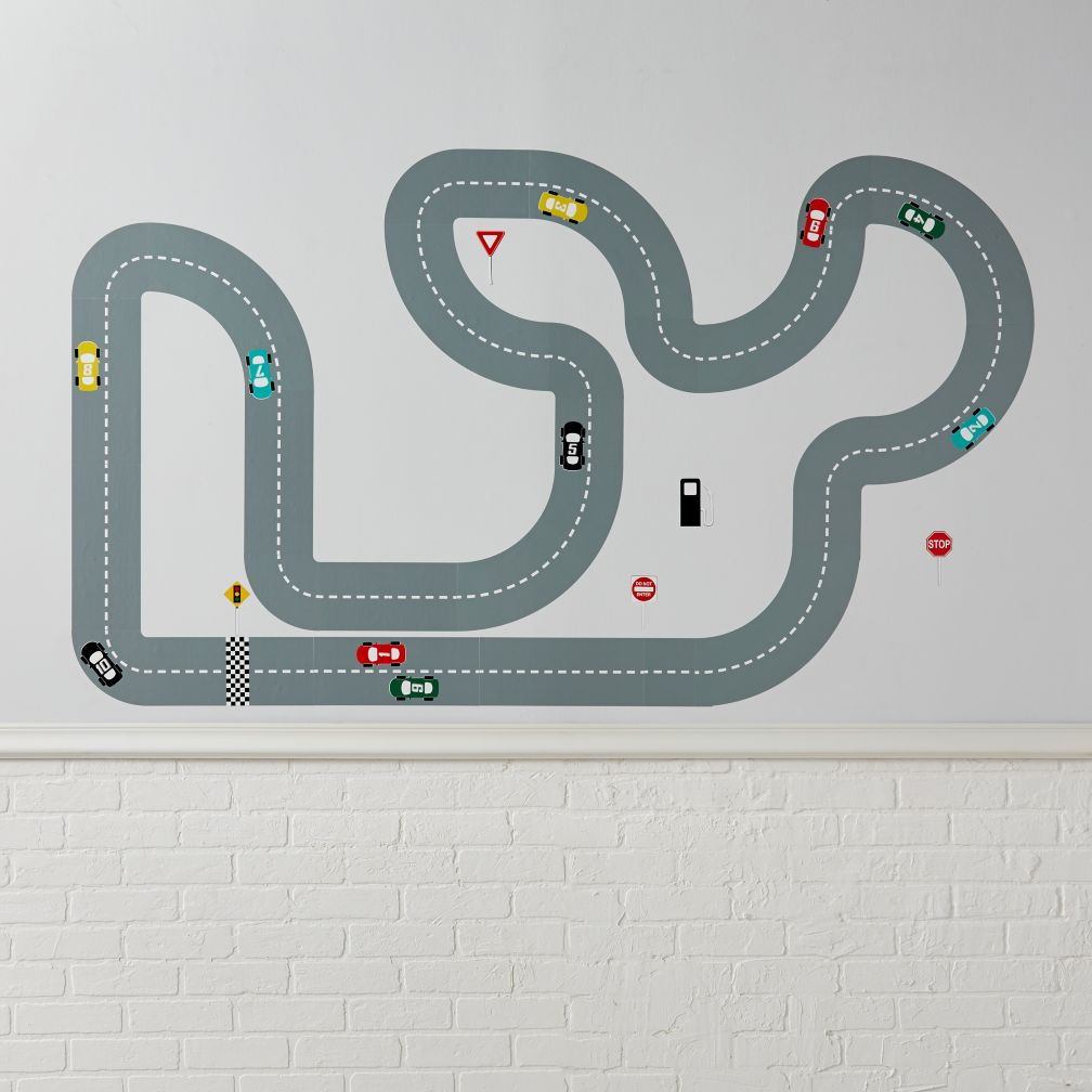 Race Track Decals The Land Of Nod