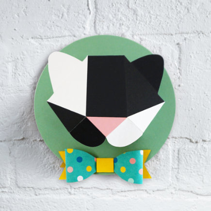 3D Paper Bear Taxidermy Wall Art - 3D Paper Wall Art