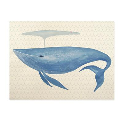 Big Blue Whale Canvas Wall Art