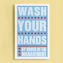 Kids Wall Art: Kids Wash Your Hands Wall Art