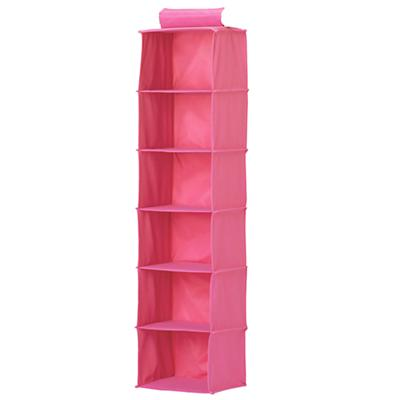 I Think I Canvas Pink Wide Hanging Organizer
