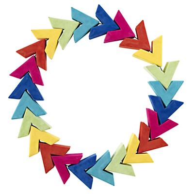Color Wheel Wreath