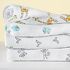 Swaddle Blanket Set: Giraffe, Elephant, Bird, Monkey