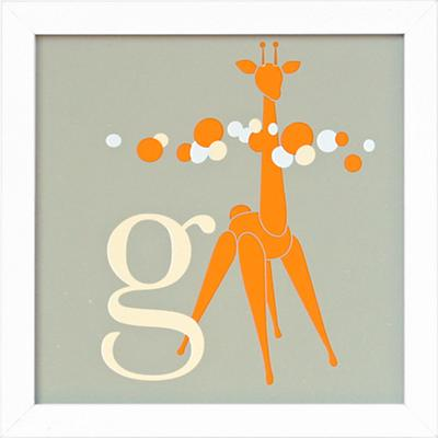 Not Your Usual Alphabet Framed Letter G