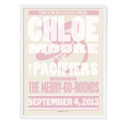 Band Poster Personalized Wall Art (Pink)