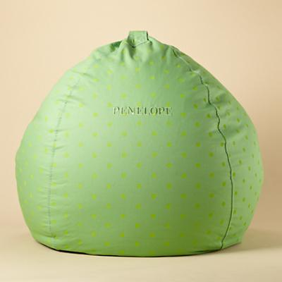 "40"" Personalized Bean Bag (Green Dots)"