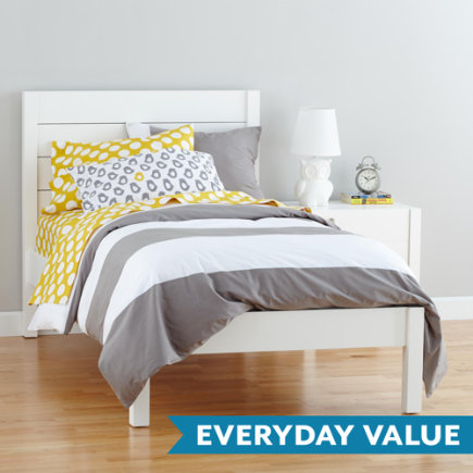 Twin White Uptown Bed