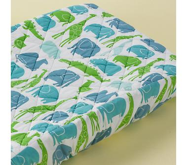 Baby Changing Pad Cover: Baby Light Blue Zoo Pad Cover