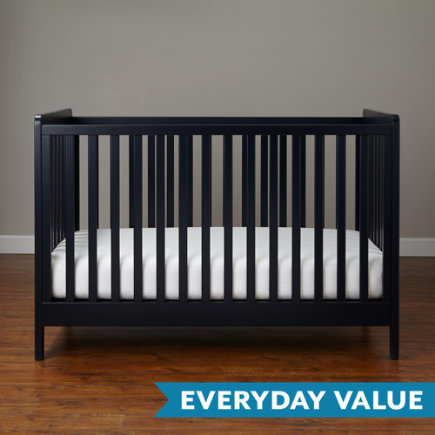 Modern Wooden Carousel Baby Crib (Navy) - Midnight Blue Carousel Crib