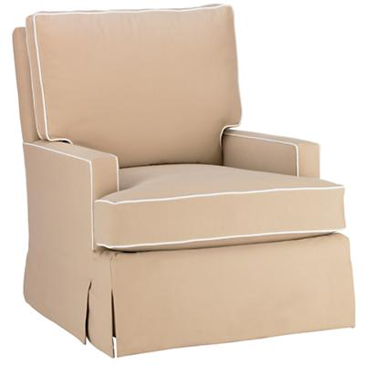 Mod Nod Swivel Glider (Tan w/White Piping)