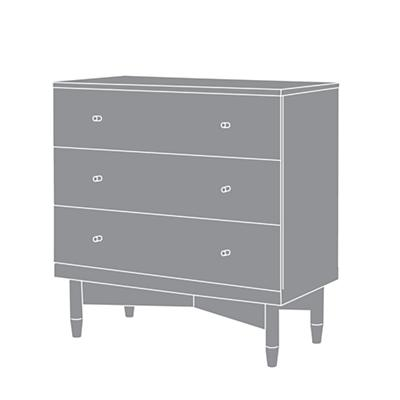 ducduc™ for Nod: Oslo 3-Drawer Dresser