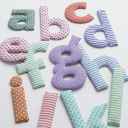 Kids Wall Decor: Kids Colorful Fabric Wall Letters - Fabric Letter a