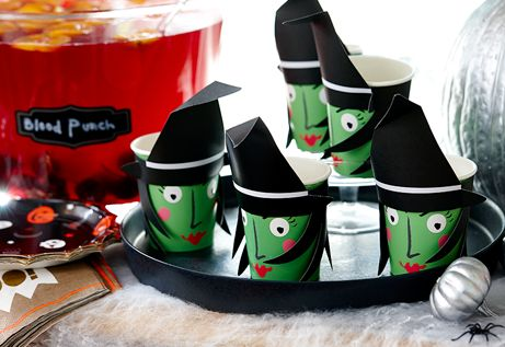 Kids Halloween Witch Cups