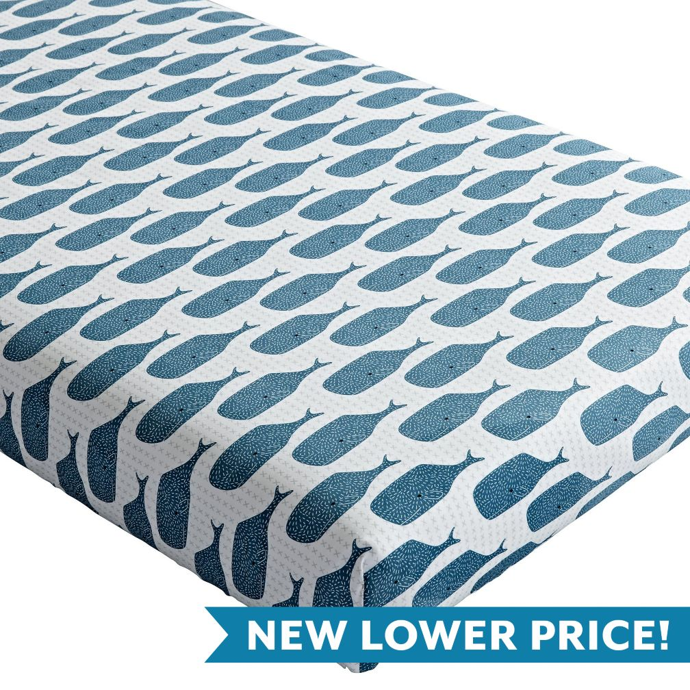High Seas Crib Fitted Sheet (Whale)