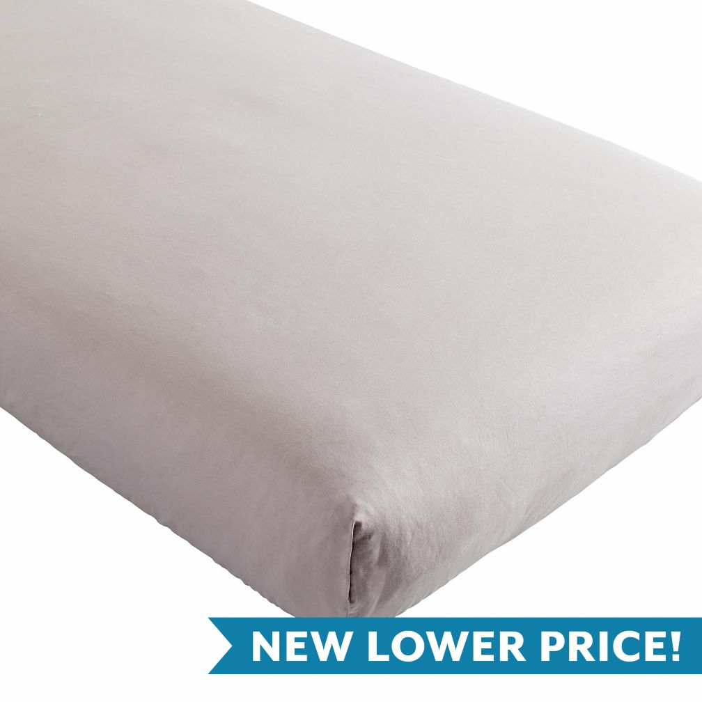 Iconic Crib Sheet (Light Grey)