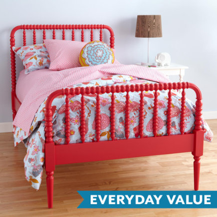 Jenny Lind Kids Bed (Raspberry) - Twin Jenny Lind Raspberry Bed