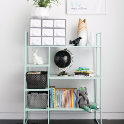 Mint Metalwork Bookcase