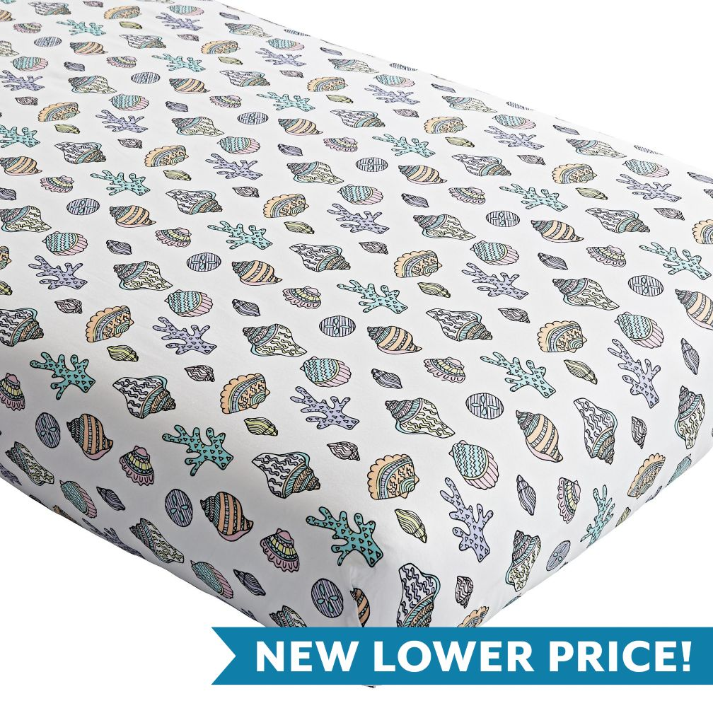 New Wave Nautical Crib Fitted Sheet Set