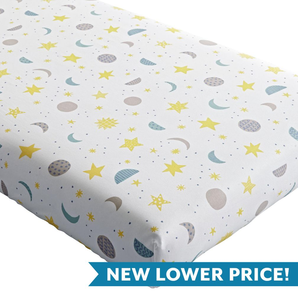 Nightfall Crib Fitted Sheet