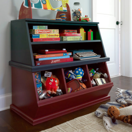 Kids Storage Bins: Kids Espresso Storage Unit - Espresso Shelfpalooza