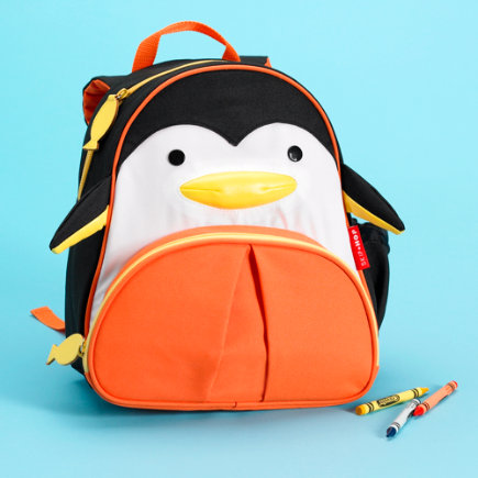 Kids Penguin Backpack - Penguin Backpack (Black) 10 x 4 x 11
