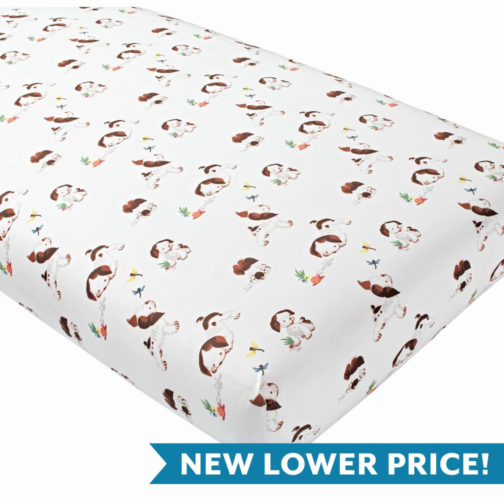 Poky Little Puppy Crib Fitted Sheet