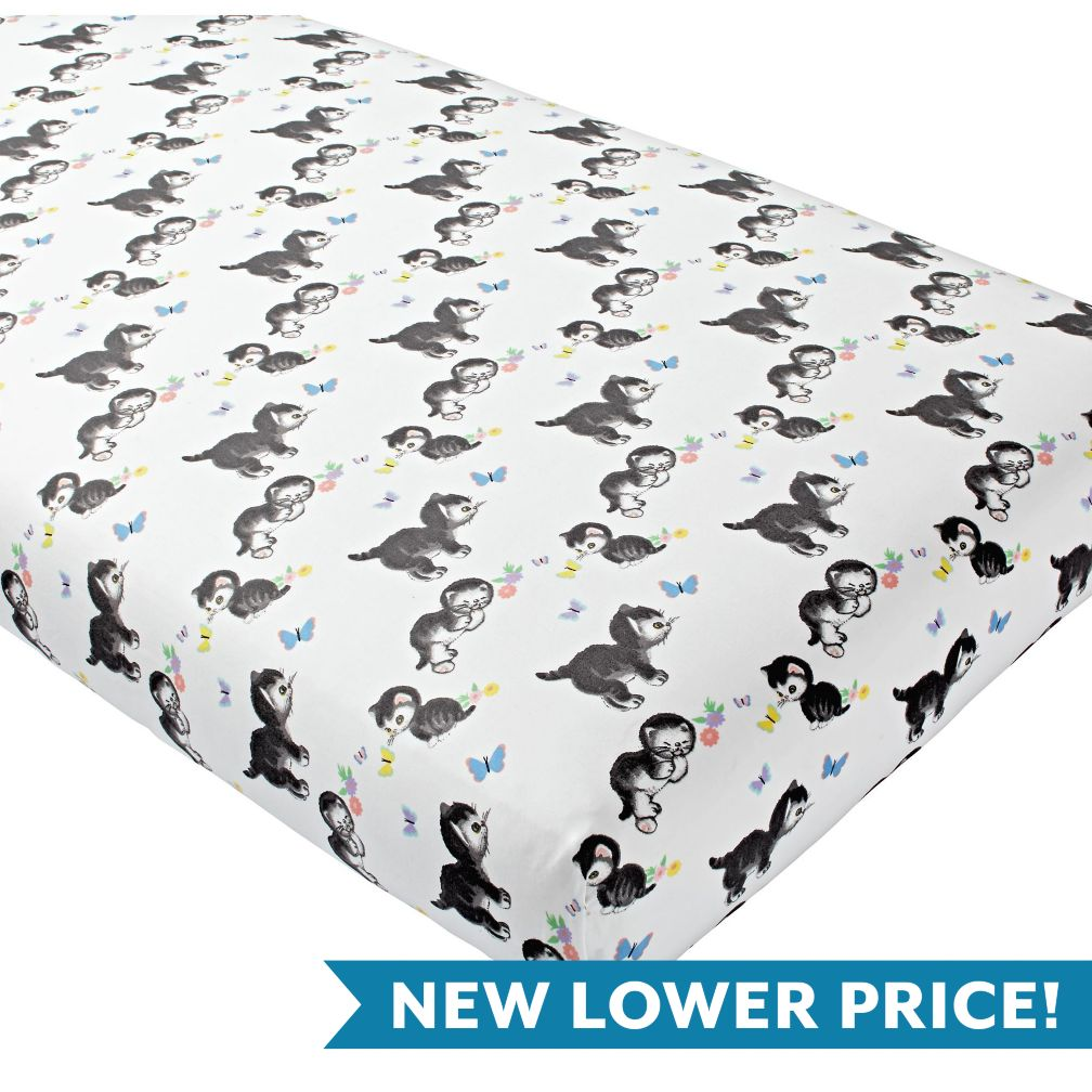 Shy Little Kitten Crib Fitted Sheet