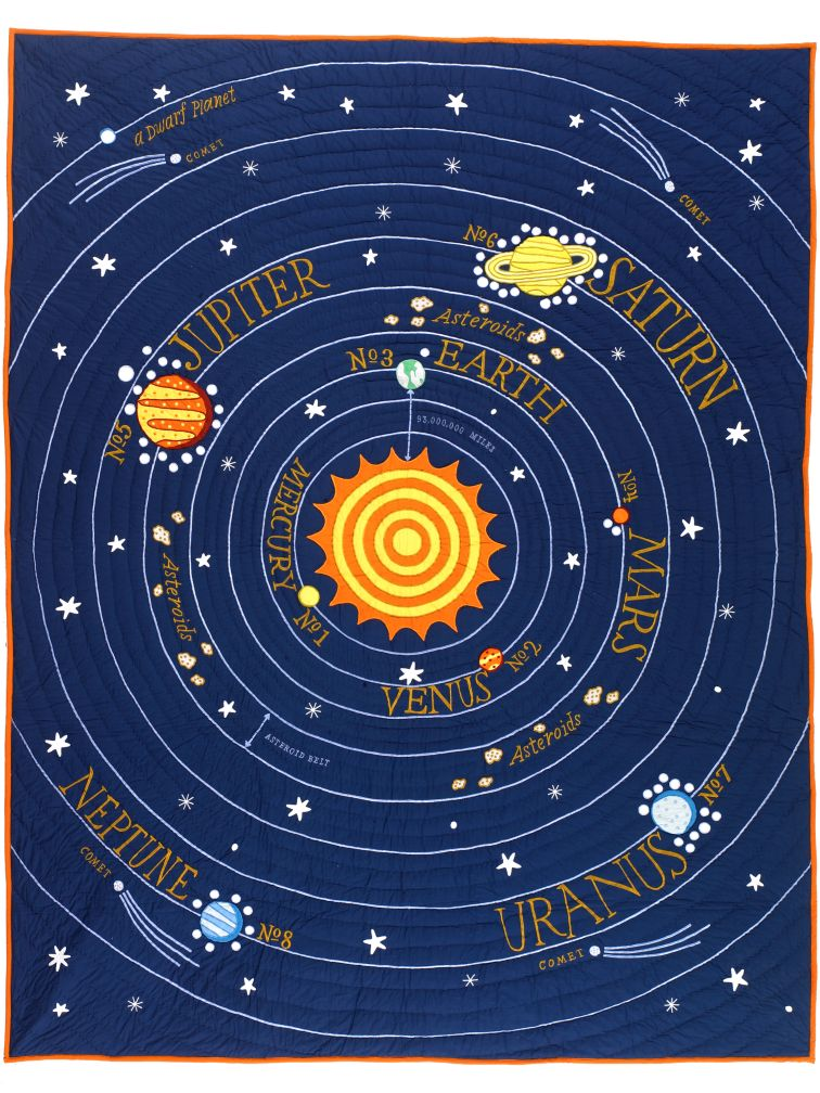 All Solar Systems Go Quilt (Twin)