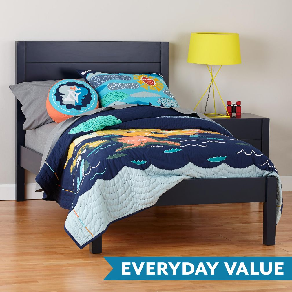 Uptown Navy Blue Kids Bed The Land Of Nod