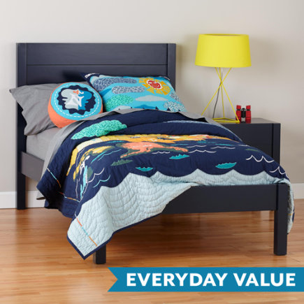Twin Midnight Blue Uptown Bed