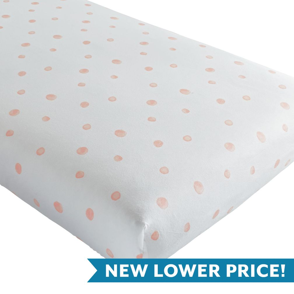 Washed Dot Crib Fitted Sheet