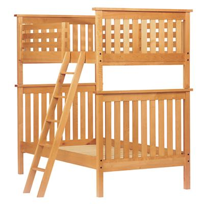 Twin Simple Bunk Bed (Natural)